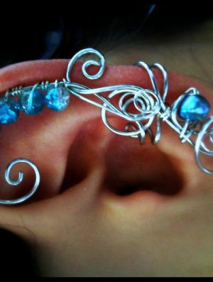 Ice Princess Wired Ear Cuff by sodacrush