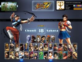 SF 4 Character Select Screen by khotebabu