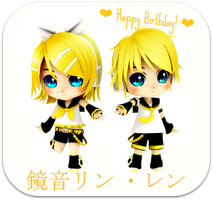 Happy Birthday Rin and Len!! by jazmia2000