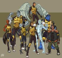 X-Men Redesigns FINAL by ChrisJamesScott