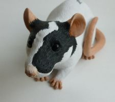 'Artie' - Rat Sculpture Commission by philosophyfox