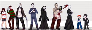 Slashers Lineup by TheWolfygirl