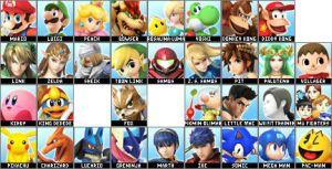 3DS/Wii U Roster by TurboAce