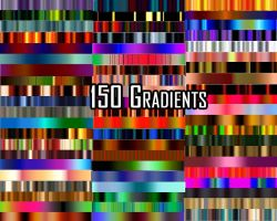 150 Fractal Gradients by MemoriesOfRain