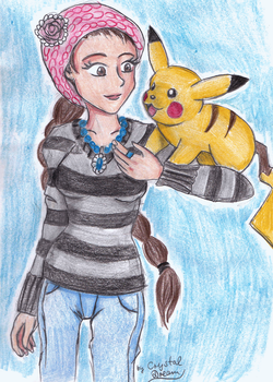 A Girl and her Pikachu by Crystal-Dream