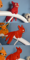 Mini magnet plush: 4-tail by goiku