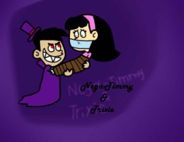 Nega Timmy and Trixie by Cookie-Lovey