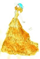 LG- Gold sequin couture dress by kimlasca