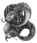 Sepia Snake by caramitten