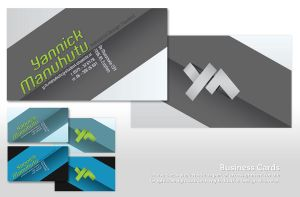 YM logo Business Cards by Yabbus23