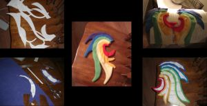 Making of Rainbow Dash Part 1 by darthmarth3030