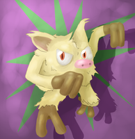 Mankey by PsychoticFlare