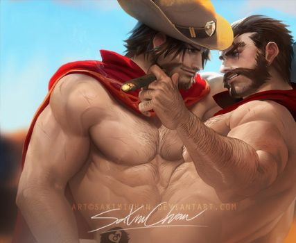 Cigar for two Mcgraves .BL bara tag. by sakimichan