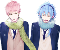DRAMAtical Murder Render - Aoba Seragaki x Noiz by WhateverheadDrop