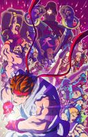 Street Fighter 25 Anniversary Colors by nfteixeira