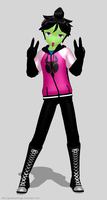 [MMD] Zim Hoodie Model DL by goddessofmagic