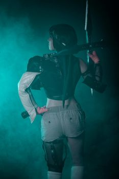 Yuffie FF7 cosplay with smoke by mayuyu0405