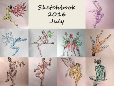 Sketchbook 2016 - July by Charmyto