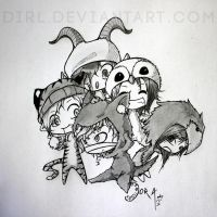 BEAUTIFUL DEFORMITY - chibi! style by Dirl