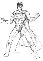Superman sketch by gregjolly