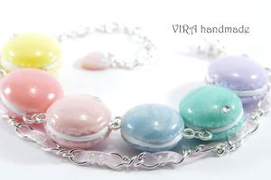 French macaroon charm bracelet by virahandmade