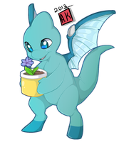 Neopets~ Bluewing's First Plant by S-Dragoness