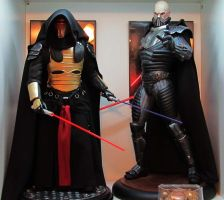Darth Revan Premium Format Statue with Malgus PF by mycsculptures