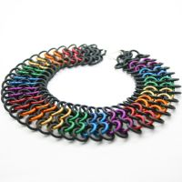Rainbow Rubber Pride Choker I by Utopia-Armoury
