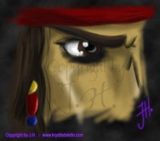 Captain Jack Sparrow :: Eye by MooneyeKitsune