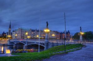 Ostermalm at Dusk II by HenrikSundholm