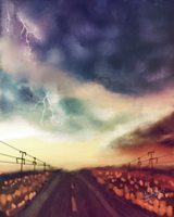 Stormy Road - Speed Paint by WitTea