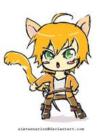 Puss in Boots Chibi Gijinka by Sixteenation