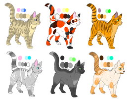 Cat adopts batch 1 - Open by SnowLilies