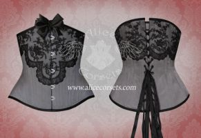 Satin underbust corset by Alice-Corsets