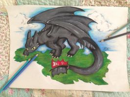 Toothless- How to train your dragon 2 by Tr4umUnic0rn