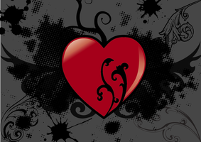 Abstract vector heart by ChiragtheOO7