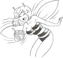 Bee-chan and her Honey pot by Koku-chan