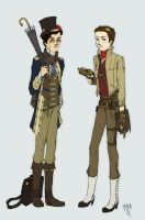 Steampunk Kurt+Blaine by miryah