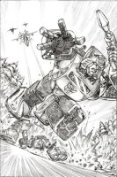 IDW Transformers 1 -pencils by GuidoGuidi