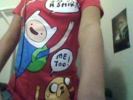 my adventure time shirt by 3and4fan