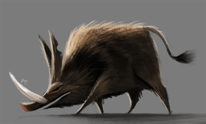 DAY 399. Boar by Cryptid-Creations