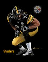 Steelers James Harrison 92 by Cruuzetta