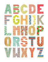 Alphabet - Watercolor patterns - uppercase by gb-illustrations