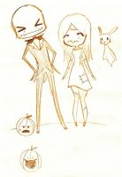 Jack and Sally Chibis by shadowgirl-13