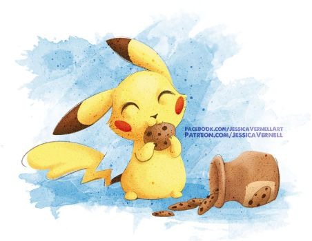 When you give a Pikachu a Cookie by ParkerLeif