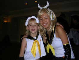 Younger and Older Rin Kagamine by SakuraBlizzard