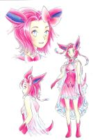 Sylveon - Gijinka Design by RoCkBaT