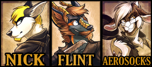 Furry Fiesta 12' Badge Examples by AeroSocks