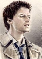Misha Collins miniature by whu-wei