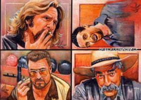 Big Lebowski sketch cards 2 by choffman36
